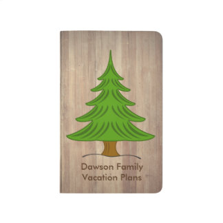Rustic Pine Tree Personal Journal
