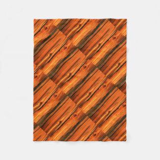 rustic pine wood boards fleece blanket