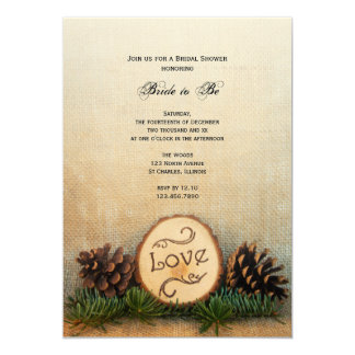 Rustic Pines Woodland Bridal Shower Invitation