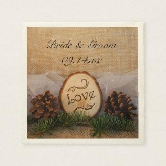 Rustic Pines Woodland Wedding Paper Napkins
