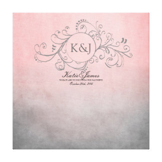 Rustic Pink and Grey Bohemian Guest Book Canvas Stretched Canvas Print