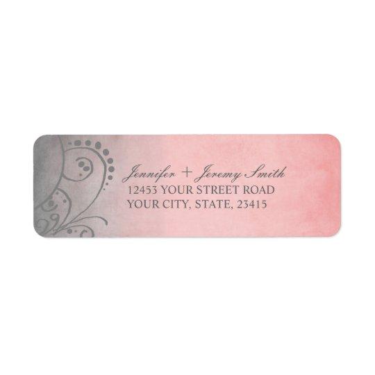 Rustic Pink and Grey Bohemian Return Address Return Address Label
