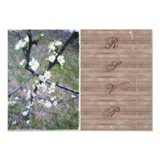Rustic Plum Blossom Wedding Handfasting RSVP Announcements