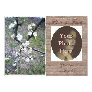 Rustic Plum Blossom Wedding Handfasting Suite 11 Cm X 16 Cm Invitation Card