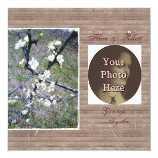 Rustic Plum Blossom Wedding Handfasting Suite 13 Cm X 13 Cm Square Invitation Card