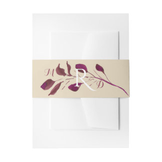 Rustic Plum | Monogram Belly Band Invitation Belly Band
