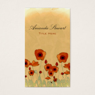 Rustic Poppy Business Card