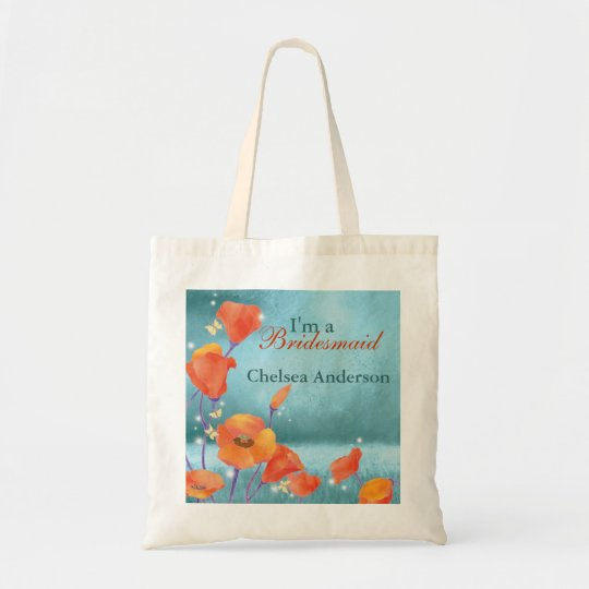 Rustic Poppy Wedding Bridesmaid Gift