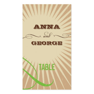 Rustic Poster: Apple Green Escort / Gift Tag Business Card Templates