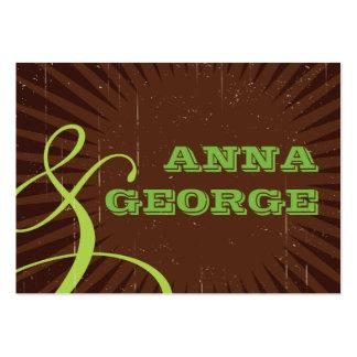 Rustic Poster: Apple Green Wedding Website Business Card