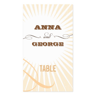 Rustic Poster: Cream & Brown Escort / Gift Tag Business Card Templates