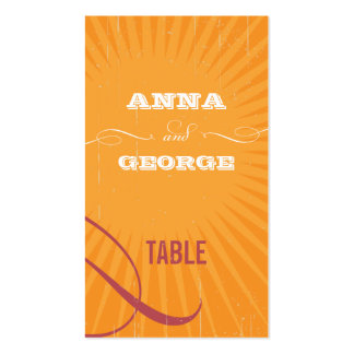 Rustic Poster: Pink & Orange Escort / Gift Tag Business Card Template
