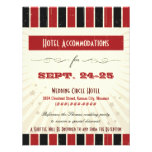 Rustic Poster: Red & Black Accommodation Personalised Invite