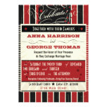 Rustic Poster: Red & Black Custom Wedding Custom Announcement