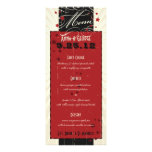 Rustic Poster: Red & Black Custom Wedding Menu Invites
