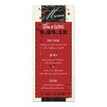 Rustic Poster: Red & Black Custom Wedding Menu Invites
