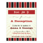 Rustic Poster: Red & Black Reception Only Invites
