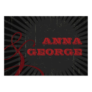 Rustic Poster: Red & Black Wedding Website Business Card Templates