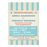 Rustic Poster: Red, White & Blue Custom Wedding