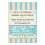 Rustic Poster: Red, White & Blue Custom Wedding Personalised Announcement