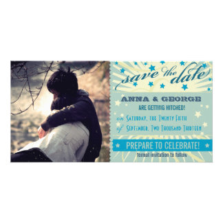 Rustic Poster: Sandy Beach Save the Date Photo Greeting Card