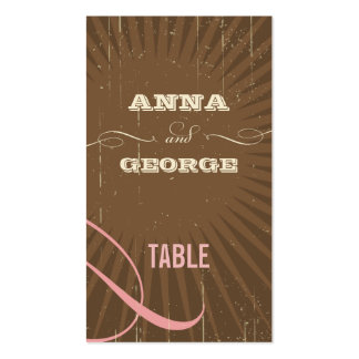 Rustic Poster: Strawberry Mousse Escort / Gift Tag Business Cards