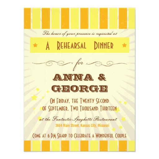 Rustic Poster: Tropical Sun Rehearsal Dinner Invites