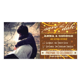 Rustic Poster: Tropical Sun Save the Date Personalized Photo Card
