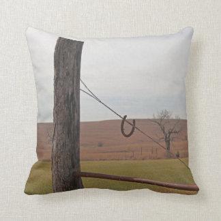 Rustic Prairie View Throw Pillow