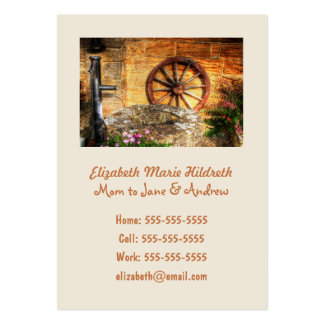 Rustic Pump, Well and Cartwheel scene Pack Of Chubby Business Cards