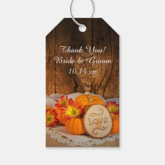 Rustic Pumpkins Fall Wedding Favor Tag