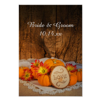 Rustic Pumpkins Fall Wedding Poster