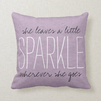 Rustic Purple Sparkle Cushion