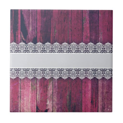 Rustic Purple Wood with Lace – Shabby Chic Style Tiles