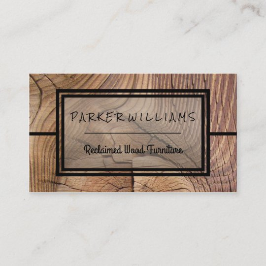 Rustic reclaimed wood furniture business business card zazzle rustic reclaimed wood furniture business business card reheart Image collections