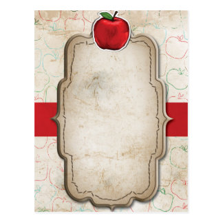 Rustic Red Apple Post Card