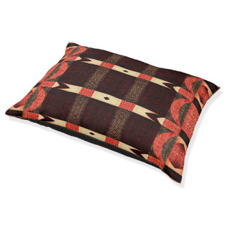 Rustic Red Arrows Stripe Pattern Indoor Dog Bed