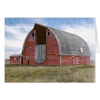 Rustic Red Barn Card
