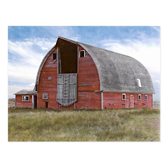 Rustic Red Barn Postcard