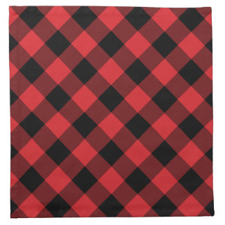 Rustic Red Buffalo Plaid | Holiday Napkin