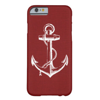 Rustic Red Vintage Anchor Barely There iPhone 6 Case