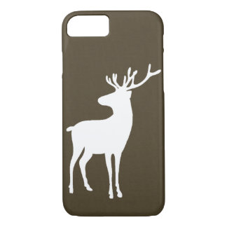Rustic Reindeer & Faux Leather iPhone 7 Case