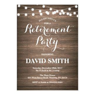 Rustic Retirement Party Invitation Card