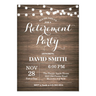 Retirement party invitations announcements zazzle rustic retirement party invitation card stopboris
