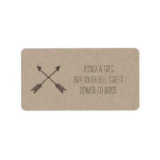 rustic return address labels