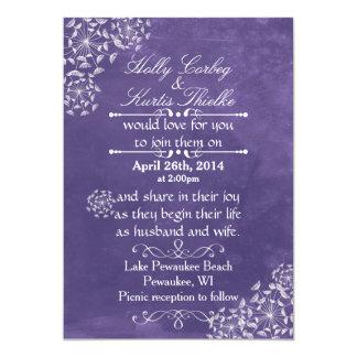 Rustic Romance Purple Wedding Invitations