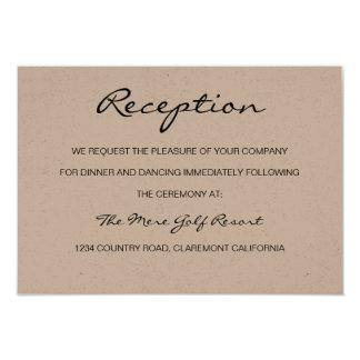 Rustic Romantic Reception or Accomodation Card