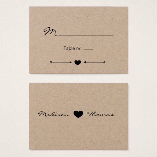 Rustic Romantic Wedding place card