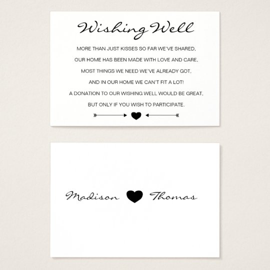 Rustic Romantic Wedding wishing well card