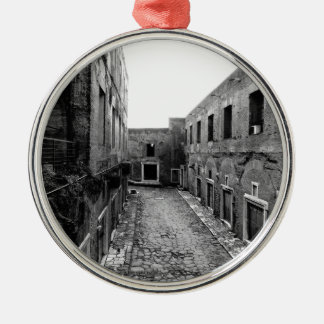 Rustic Rome Silver-Colored Round Decoration